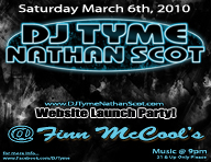 dj tyme nathan scot finn mc cools website launch party